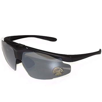 Zebuakuade Gafas de Sol polarizadas Deportivas de Pesca de Golf Gafas metálicas UV400 (Color :