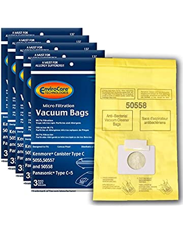 EnviroCare Replacement Micro Filtration Vacuum Bags to fit Kenmore Canister Type C/Q. 5055