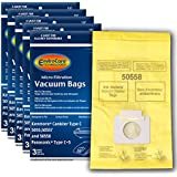 EnviroCare Replacement Micro Filtration Vacuum Bags to fit Kenmore Canister Type C/Q. 5055, 50557 and 50558 Panasonic Type C-5 Models 15 Pack
