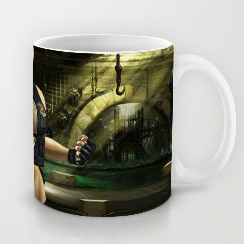 Attractive Gift Choice - White 11 oz Classic White online games Mugs Cutom Design with Sonya Blade Mortal Kombat Mk Coffee Mugs/Tea Mugs/Drink Cups - Dishwasher and Microwave Safe