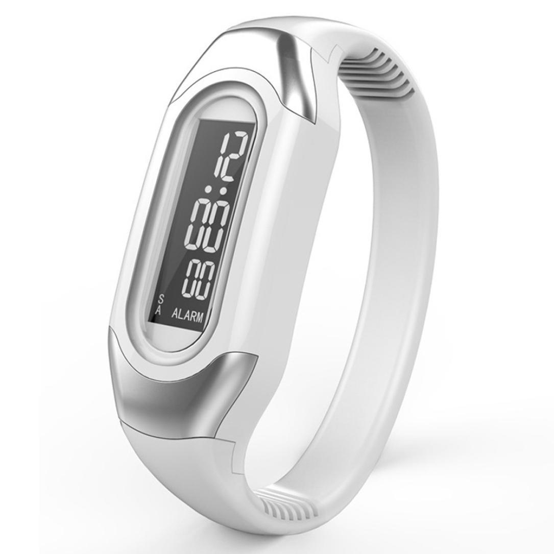 MoonhouseメンズレディースシリコンLEDスポーツブレスレット腕時計 B01IXZF2O2 ホワイト ホワイト