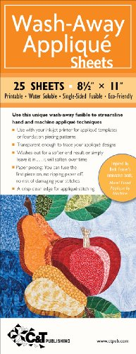 (C&T Publishing Wash-Away Applique Sheets, 8-1/2 by 11-Inch, 25-Sheet)