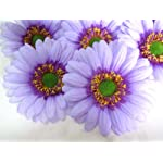 12-BIG-Silk-Purple-Gerbera-Daisy-Flower-Heads-Gerber-Daisies-35-Artificial-Flowers-Heads-Fabric-Floral-Supplies-Wholesale-Lot-for-Wedding-Flowers-Accessories-Make-Bridal-Hair-Clips-Headbands-Dress
