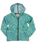 Hatley Little Boys' Unlined Jumping Frogs Raincoat, Green, 4