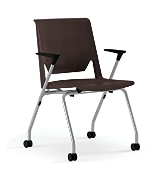 Haworth Very Side Chair: Hard/Soft Casters   Black Arms   Tetro Back