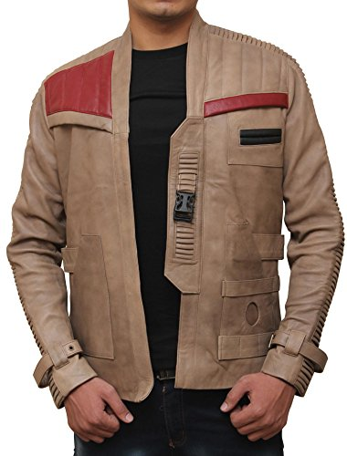 Decrum Finn Antique Beige Star Wars Leather Jacket XXL
