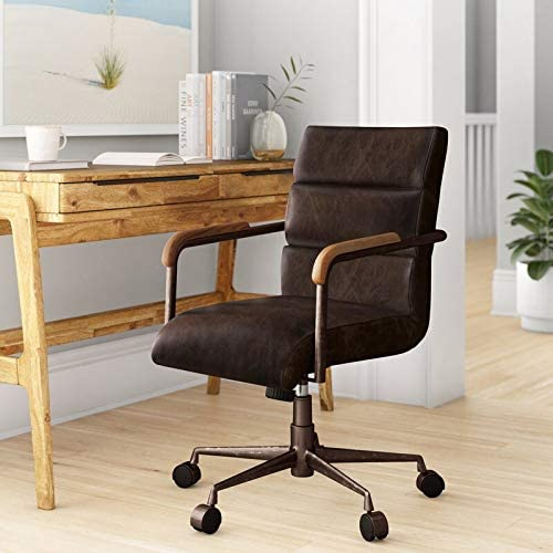 Amazon Com Tamliy Sophia Genuine Leather Conference Chair Home Kitchen