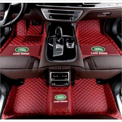 Himent Custom Fit XPE Leather 3D Full Surrounded Waterproof Car Floor Mats for Land Rover Range Rover Sport Range Rover Discovery with Logo (red Wine, 2019 Range Rover Evoque 4 Door)