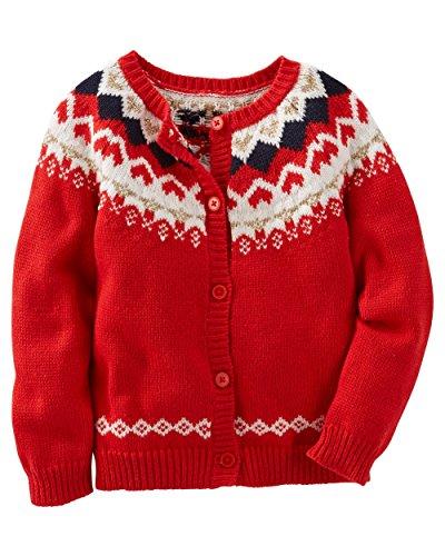 Buy oshkosh b'gosh baby girls' fair isle cardigan