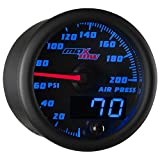 Black & Blue MaxTow 200 PSI Air Pressure Gauge