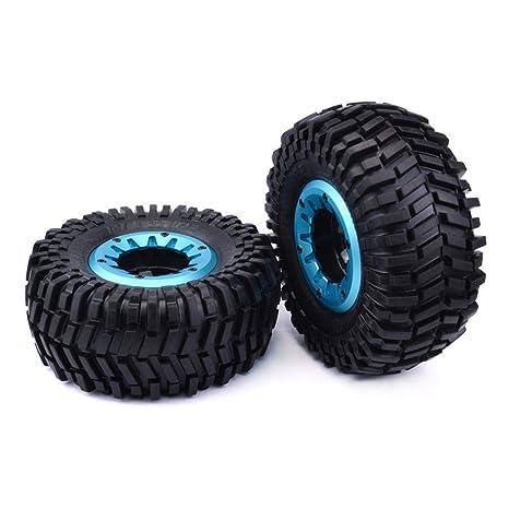 Waroomss 2pcs Neumáticos RC,para ruedas de 1/10 camiones trepadores, Diámetro interior