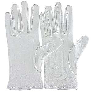 6 pares de guantes de algodón extrafinos, talla M