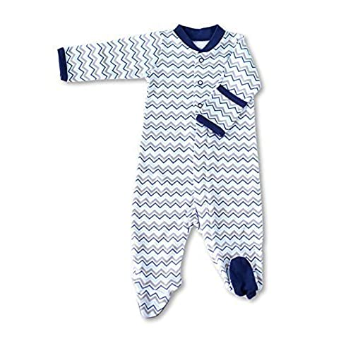 Zippyz Chevron Blue and Gray (0-3 months)