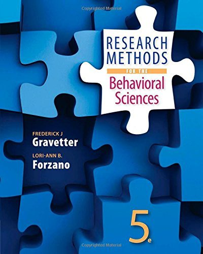 By Frederick J Gravetter Research Methods for the Behavioral Sciences (5th Fifth Edition) [Hardcover]