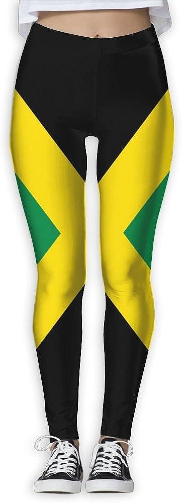 HAIRUIYD Yoga Pants Jamaica Flag Women's Athletic Workout Gym Running Fitness Leggings Caparis