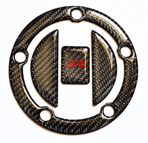 Cap Pad Fuel (Suzuki GSX-R GSXR 600 750 1000 Real 3k Carbon Fiber Fuel Tank Cap Filler Cover Pad)