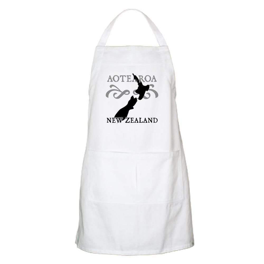 Buy white apron nz - Amazon Com Cafepress Aotearoa New Zealand Apron Standard Home Kitchen