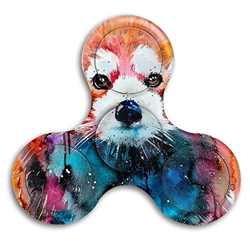 C-Emily Anti-Anxiety Fidget Spinner Watercolor Animal Red Panda Spinning Toy Hand Spinner Perfect For ADD, ADHD, Anxiety, And Stress Relief for $<!--$7.77-->