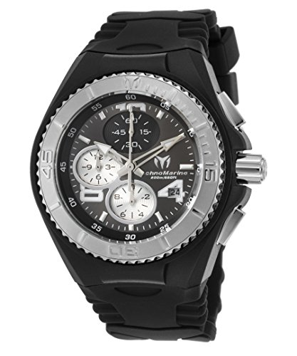 Technomarine Women's 'Cruise Jellyfish' Quartz Stainless Steel and Silicone Casual Watch, Color Black (Model: TM-115099)