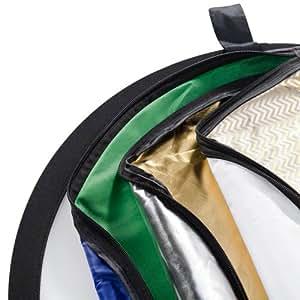 Walimex 17685 Alrededor Azul, Oro, Verde, Plata, Transparente, Color blanco reflector de estudio fotográfico - Reflector para estudio fotográfico (56 cm)