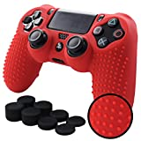 Pandaren STUDDED Anti-slip Silicone Cover Skin Set for Sony Playstation 4/PS4/PS4 Slim/PS4 Pro Controllers(Red controller skin x 1 + FPS PRO Thumb Grips x 8) Review