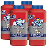 Resolve Pet Carpet Cleaner Powder, 72 oz (4 Bottles x 18 oz), For Dirt & Stain Removal