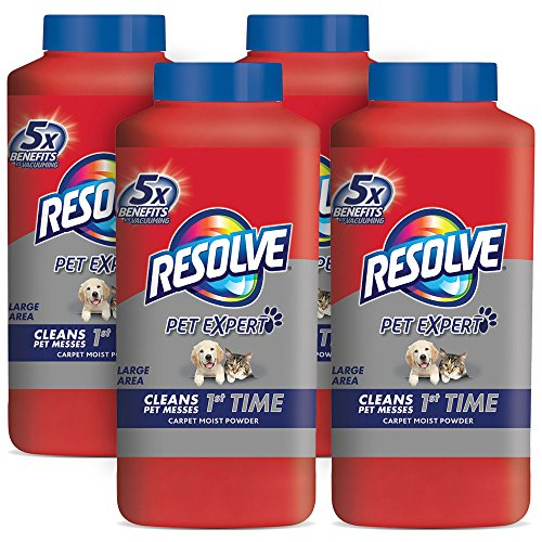 Resolve Pet Carpet Cleaner Powder, 72 oz (4 Bottles x 18 oz), For Dirt & Stain Removal by Resolve