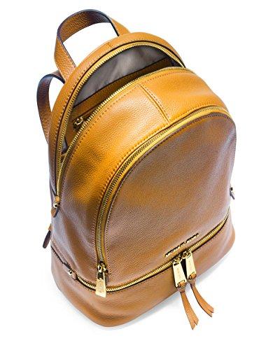 Michael Kors Rhea Zip Small Sun Leather Back Pack