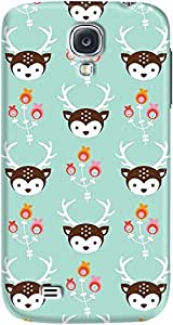 DailyObjects Blossom Deer Case For Samsung Galaxy S4 Green