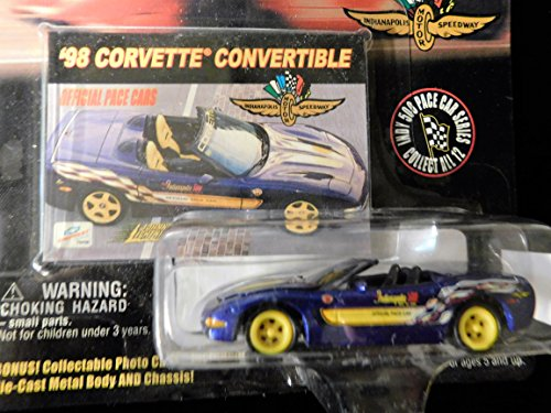 - 1998 Corvette Convertible Official Pace Cars Indianapolis Motor Speedway Edition 1:64 scale die-cast by Johnny Lightning