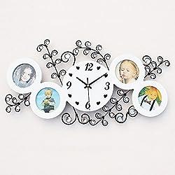 zhENfu Photo frame clock, clock mute, mute modern modern clocks, watches, clocks,white