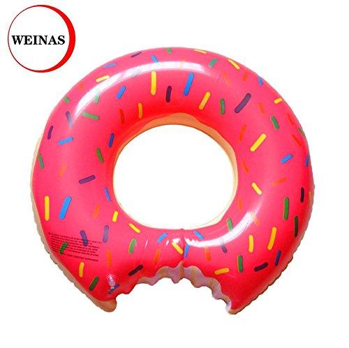 Dount Inflable Flotador de Piscina para Adultos WEINAS® Rosquilla Anillo de Nadada de PVC en Playa