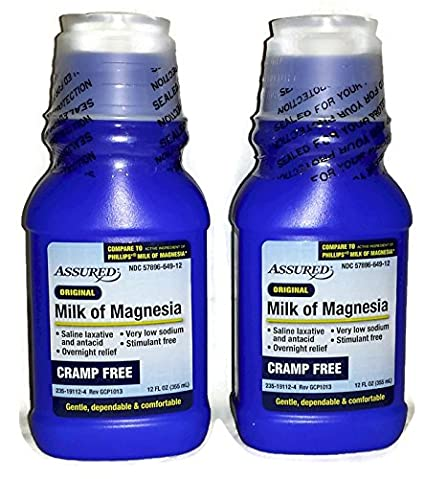Amazon.com: Original, Cramp Free, Milk of Magnesia (Pack of 2) - 12 fl oz: Health & Personal Care