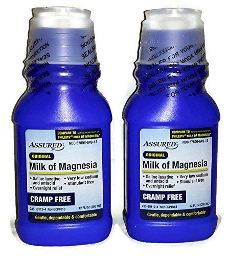 - Original, Cramp Free, Milk of Magnesia (Pack of 2) - 12 fl oz