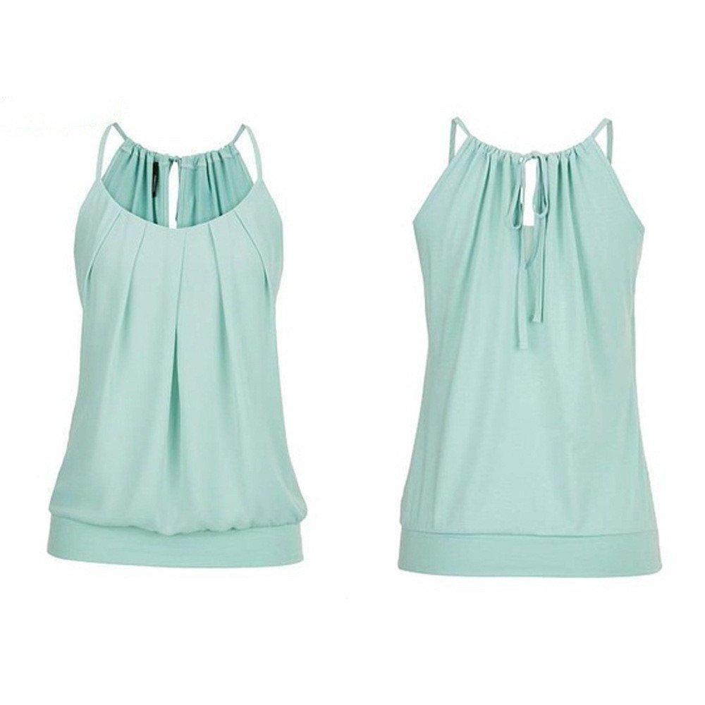 Women Tank Tops Loose Fit,Teen Girls Halter Tank Crop Top Casual Sleeveless Blouses Spaghetti Tanks Camisole Shirt Vest
