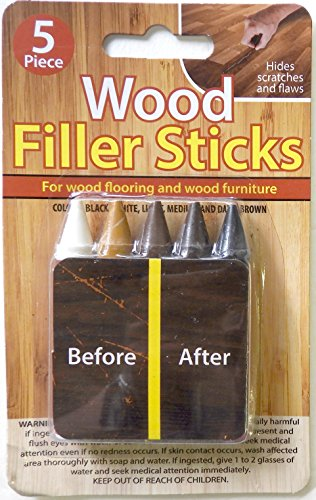 5 Pack Wood (Wood Filler Sticks 5 Pack Hides Repairs Scratches and Flaws on Floors and Furniture)