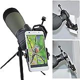 Cell Phone Telescope Adapter Mount   Telescope Eyepiece Adapter for Binocular Monocular Spotting Scope Microscope   Universal Smartphone Telescope Adapter for iPhone 7/7 plus/6/6 plus etc.