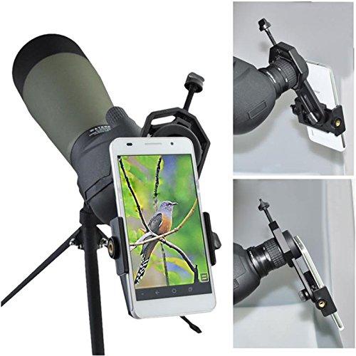Cell Phone Telescope Adapter Mount | Telescope Eyepiece Adapter for Binocular Mo