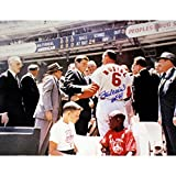 Stan Musial Autographed With Jfk 16 Inch X 20 Inch Photo With HOF Hall of Fame Inscribed Stan The Man Authenticated