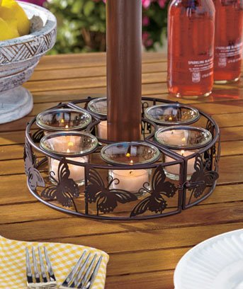 Superieur Butterfly Patio Umbrella Candleholder / Candle Holder