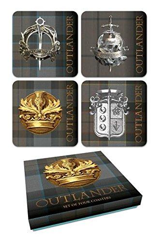 Outlander Tartan Coaster Set Dark Horse Deluxe Diamond Comic Distributors DEC150154 Non-Classifiable
