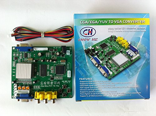 Arcade Game RGB/CGA/EGA/YUV to VGA HD Arcade Game Video Converter Board 1 VGA Output for Arcade Jamma Game Monitor to LCD CRT Monitor PDP Monitor ()