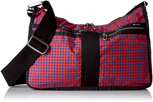 LeSportsac Essential Everyday Bag, Happy Check Blue