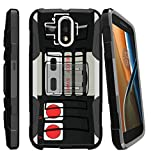 Cheap MINITURTLE Case Compatible w/Motorola Moto G4 (G 4th Gen)/Moto G4 Play (XT1625) Case with Kickstand + Belt Clip Combo [Slim Heavy Duty Protection][Air Cushion Technology] – Game Controller