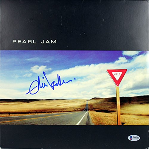 Eddie Vedder Pearl Jam Authentic Signed Yield Album Cover W/ Vinyl BAS #A85424