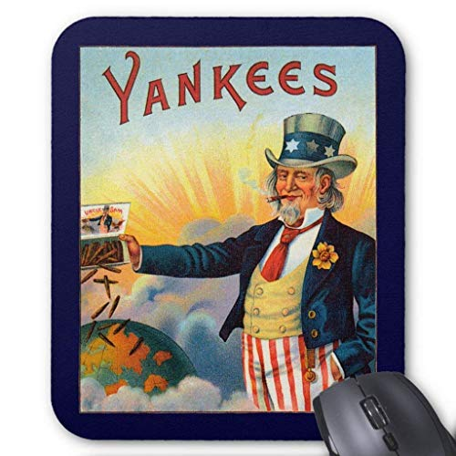 - Computer Accessories Anti-Friction Wristband Vintage Yankees Cigar Label, Patriotic Uncle Sam Mouse Pad 18X22