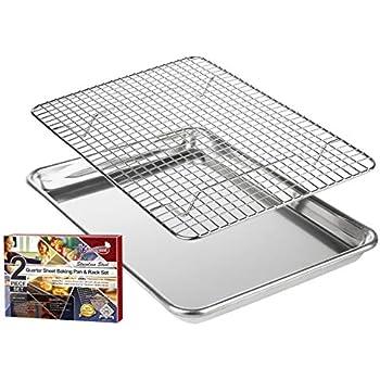 checkered chef baking sheet and rack set aluminum cookie sheet half sheet pan for. Black Bedroom Furniture Sets. Home Design Ideas