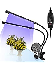 TREE.NB LED Grow Light for Indoor Plants, 20W Adjustable Dual Head Growing Lamp, 9 Dimmable Levels 3/9/12H Timer, LED Plant Grow Light