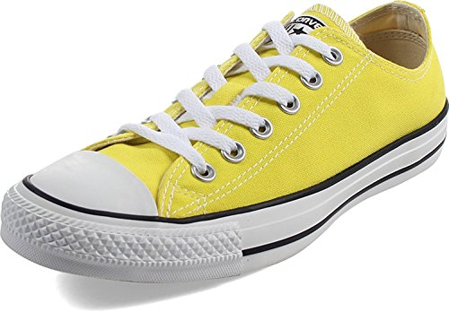 Converse Unisex Chuck Taylor All Star Low Top Fresh Yellow Sneakers - 10.5 B(M) US Women / 8.5 D(M) US (Yellow Converse Shoes)