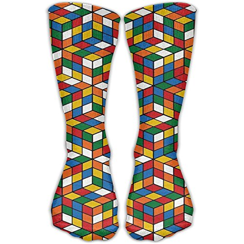 Price comparison product image Women's Men's Classics Socks Rubik's Cube World Athletic Stockings 30cm Long Sock One Size